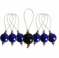Zooni Stitch Markers with Colored Beads 7/pkg Bluebell