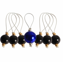Zooni Stitch Markers with Colored Beads 7/pkg Midnight Beauty