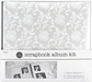 "1 Hour Album Scrapbook Kit 12""x12"" - White Elegance"