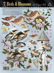 3-D Papier Tole Foil Die-Cuts - Birds & Blossoms - Click to enlarge