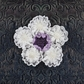 Adelynn Fabric Lace Flowers w/Pearls - Absolute