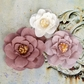 Akran Fabric Flowers w/Beads - Naturals