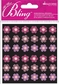 All That Bling Dimensional Stickers - Pink Mini Flowers