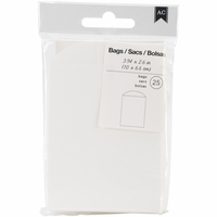 American Crafts Mini Bags - White