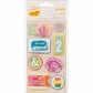 Amy Tangerine Yes Please Remarks Dimensional Stickers - Genuine