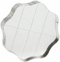 "Apple Pie Memories Acrylic Stamp Block - 2.5"" diameter"