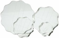 Apple Pie Memories Acrylic Stamp Block - Round Set of 4 w/Grid