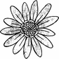 Art Gone Wild Mounted Rubber Stamps - Daisy
