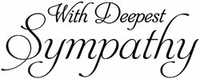 Art Gone Wild Mounted Rubber Stamps - Deepest Sympathy