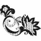 Art Gone Wild Mounted Rubber Stamps - Floral Florish