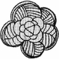 Art Gone Wild Mounted Rubber Stamps - Flower