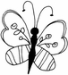 Art Gone Wild Mounted Rubber Stamps - Groovy Butterfly