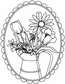 Art Gone Wild Mounted Rubber Stamps - Pitcher Bouquet Oval