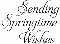 Art Gone Wild Mounted Rubber Stamps - Springtime Wishes