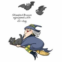 Art Impressions Halloween Cling Rubber Stamp Set - Air-Hag