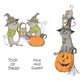 Art Impressions Halloween Cling Rubber Stamp Set - Mice And Sweet