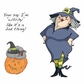 Art Impressions Halloween Cling Rubber Stamp Set - Witch Wanda
