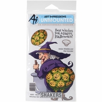 Art Impressions Shakers Card Set - Best Witches