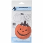 Art Impressions Spinners Cling Rubber Stamp - Pumpkin