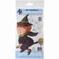Art Impressions Spinners Cling Rubber Stamp - Witch
