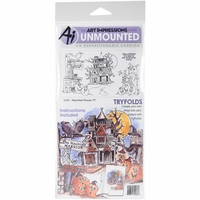 Art Impressions Try'folds Cling Rubber Stamps - Haunted House