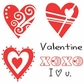 Art Impressions Valentines 2013 Cling Rubber Stamp - Heart Set