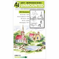 Art Impressions Watercolor Cling Rubber Stamp
