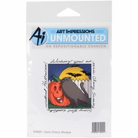 Art Impressions Windows To The World Cling Stamp - Eerie Cheery