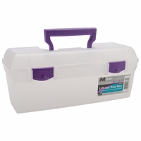 ArtBin Essentials Lift Out Box w/Handle - Clear/Purple Handle