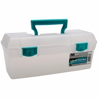 ArtBin Essentials Lift Out Box w/Handle - Clear/Teal Handle