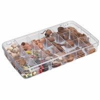 "ArtBin Prism Box 18 Compartments - 11.5""x6.625""x1.75"" Transparent"