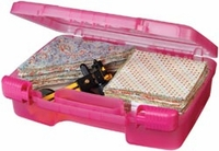 """ArtBin Quick View Carrying Case - 12""""x10"""" Translucent Raspberry"""