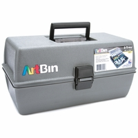 ArtBin Upscale 3 Tray Box Art Tote - Slate Grey
