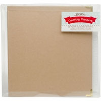 "ArtPlay Kraft 3-Ring Binder Planner 8""x10"" - Blank DIY"