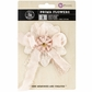 "Avalon Fabric Flower Bow 4"" - Honey"