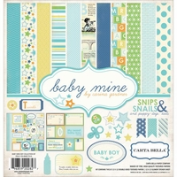 "Baby Mine Boy Collection Kit 12""x12"""