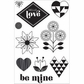 Basic Grey J'Adore Clear Stamps By Hero Arts - Hello Love