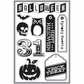 Basic Grey Persimmon Clear Stamps By Hero Arts - Halloween