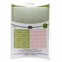 Basic Grey Textured Embossing Folders - Evergreen & Snow Flowers