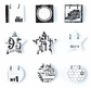 Basics Small Details Decorative Stickers - White