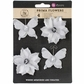 "Bethlehem Paper & Vellum Flowers & Butterflies - Snow Frost 2"" to 2.5"""