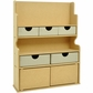 Beyond The Page MDF 2-Door Storage Hutch w/5 Drawers