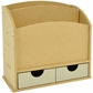 Beyond The Page MDF 2-Slot Letter Holder w/2 Drawers