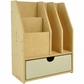 Beyond The Page MDF 4-Slot Stationery Organizer w/Drawer