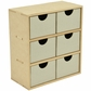 Beyond The Page MDF 6-Drawer Tall Unit
