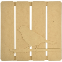 Beyond The Page MDF Bird On Twig 3-D Wall Art