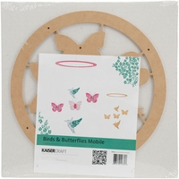 Beyond The Page MDF Birds & Butterflies Mobile