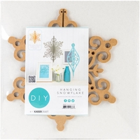 Beyond The Page MDF - Hanging Snowflake Ornament