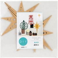 Beyond The Page MDF - Hanging Star Ornament