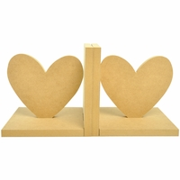 Beyond The Page MDF - Heart Bookends